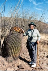 Barrel Cacti & B Daverport, Pena Blanka, AZ
